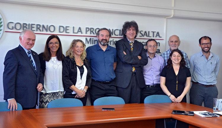 Autoridades salteñas reciben a los investigadores del proyecto QUBIC