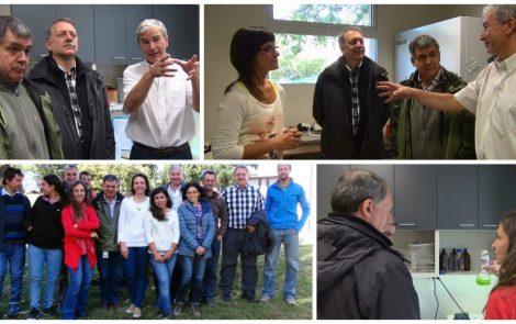 Autoridades de la CNEA visitan el Laboratorio de Bioenergía del IEDS