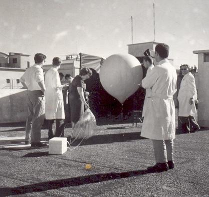 Laboratorio de Radiación Cósmica de la Comisión Nacional de Energía Atómica (CNEA) en los años 50