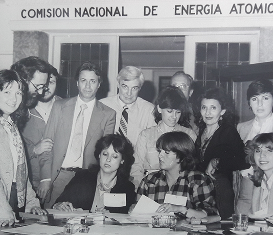 Trabajadoras y trabajadores de la CNEA en una de las instancias del COPI.