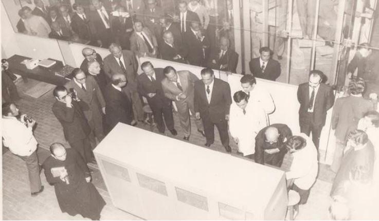 Inauguración del RA-4 en la UNR, 1972.